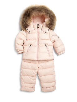 Moncler - Infant's Two-Piece Mauger Fur-Trimmed Snowsuit