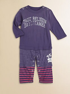 True Religion - Infant's Layered-Look Gym Romper