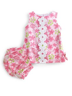 Lilly Pulitzer Kids - Infant's Retro Print Dress and Bloomer Set