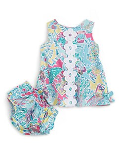 Lilly Pulitzer Kids - Infant's Flower Print Dress and Bloomer Set
