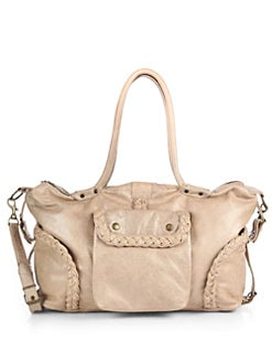 Not Rational - Leather Braid-Trim Diaper Bag