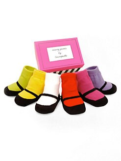 Trumpette - Infant's (0-12mo) Mary Jane Six-Piece Sock Set/Brights