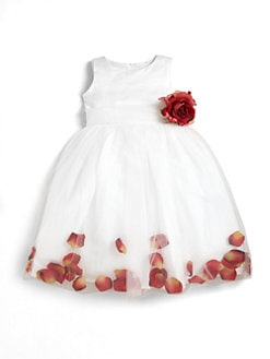 Us Angels - Infant's Satin & Tulle Rose Petal Dress