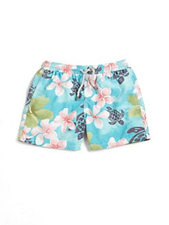 Vilebrequin - Infant's Turtles & Flowers Swim Trunks