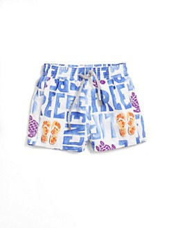 Vilebrequin - Infant's Turtle & Writing Swim Trunks