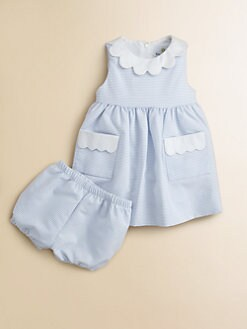 Florence Eiseman - Infant's Striped Dress & Bloomers Set