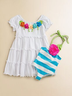 Love U Lots - Infant's Tiered Flower Coverup