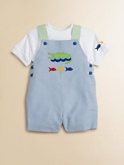 Florence Eiseman - Infant's Alligator & Fish Shortall