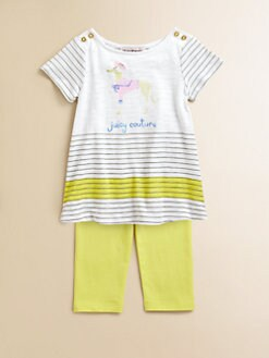 Juicy Couture - Infant's Striped Tunic & Leggings Set