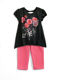 DKNY - Infant's Flower Tunic and Leggings Set
