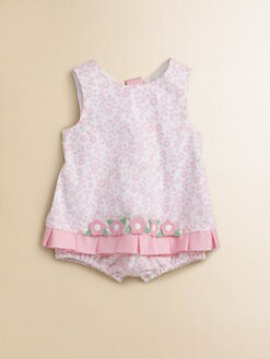 Florence Eiseman - Infant's Pique Ribbon Skirted Romper