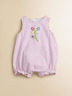 Florence Eiseman - Infant's Seersucker Floral Ladybug Romper