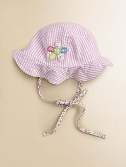 Florence Eiseman - Infant's Seersucker Floppy Hat