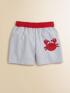 Florence Eiseman - Infant's Seersucker Crab Swim Trunks