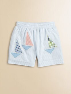 Florence Eiseman - Infant's Seersucker Sailboat Swim Trunks