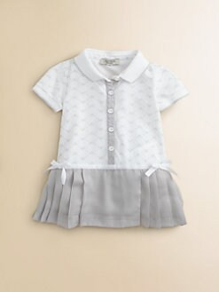 Armani Junior - Infant's Pleated Logo Dress