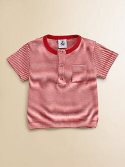 Petit Bateau - Infant's Striped Henley Shirt