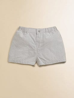 Petit Bateau - Infant's Plaid Cotton Shorts
