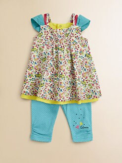 Catimini - Infant's Floral Tunic & Leggings Set