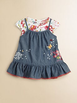 Catimini - Infant's Two-Piece Denim Jumper & Bodysuit Set