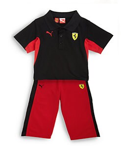 PUMA Ferrari - Infant's Two-Piece Polo Shirt & Tricot Pants Set