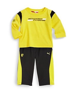 PUMA Ferrari - Infant's Two-Piece Scuderia Tee & Tricot Pants Set