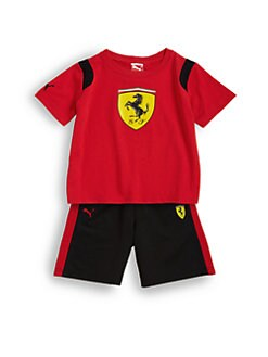 PUMA Ferrari - Infant's Two-Piece Shield Tee & Shorts Set