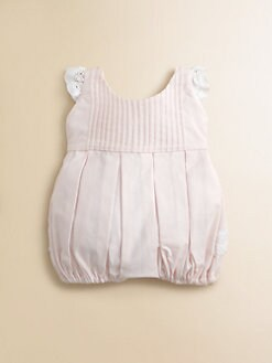 Isabel Garreton - Infant's Pintuck Lace Bubble Shortall