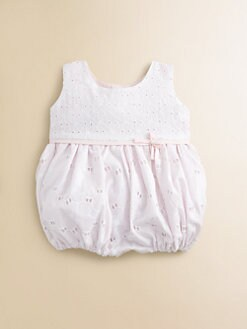 Isabel Garreton - Infant's Tiered Eyelet Bubble Shortall