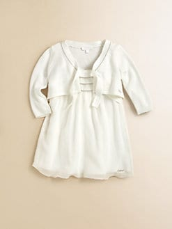 Chloe - Infant's Embellished Tie Cardigan