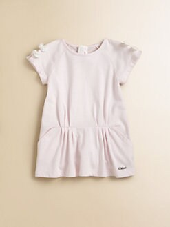 Chloe - Infant's Jersey Bow Dress