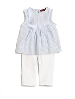 7 For All Mankind - Infant's Two-Piece Striped Jersey Top & Skinny Jeans Set