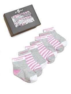 7 For All Mankind - Infant's Seven-Piece Days Of The Week Sock Set