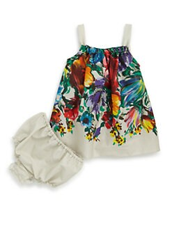 Dolce & Gabbana - Infant's Floral Printed Dress & Bloomers Set