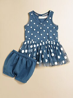 Stella McCartney Kids - Infant's Bell Dotted Tulle Dress & Bloomers Set
