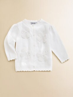 Hartstrings - Infant's Beaded Bow Cardigan