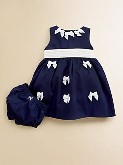 Hartstrings - Infant's Bow-Trim Dress & Bloomer Set