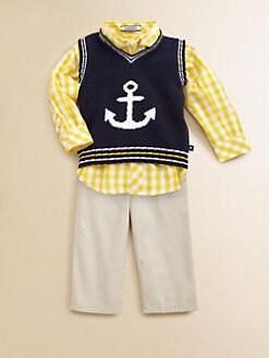 Hartstrings - Infant's Anchor Sweater Vest