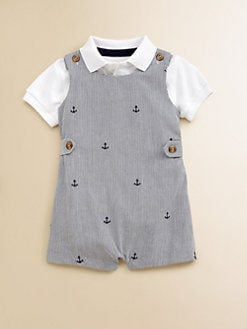 Hartstrings - Infant's Nautical Striped Overall