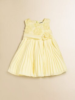 David Charles - Infant's Pleated Chiffon Dress