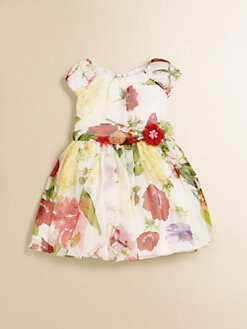 David Charles - Infant's Floral Silk Chiffon Dress