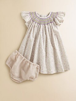 Isabel Garreton - Infant's Floral Bishop Dress & Bloomers Set