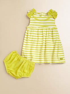 Lili Gaufrette - Infant's Striped Jersey Cotton Dress & Bloomers Set