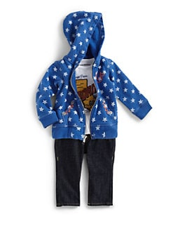 True Religion - Infant's Three-Piece Star Hoodie, Bodysuit & Jeans Gift Set