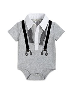 Miniclasix - Infant's Suspenders Bodysuit
