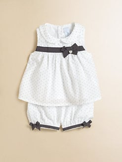 Tartine et Chocolat - Infant's Dotted Knit Top and Shorts Set