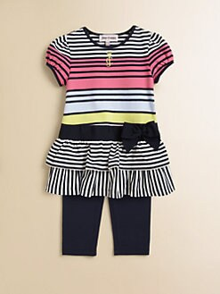 Juicy Couture - Infant's Two-Piece Striped Jersey Dress & Leggings Set