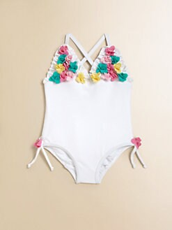 Juicy Couture - Infant's Ruffled Floral One-Piece Bathing Suit