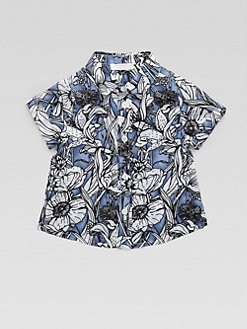 Gucci - Infant's Floral Watercolor Shirt