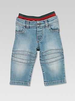 Gucci - Infant's Stone Washed Biker Jeans